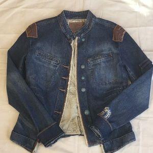 Girbaud vintage blue jean jacket.